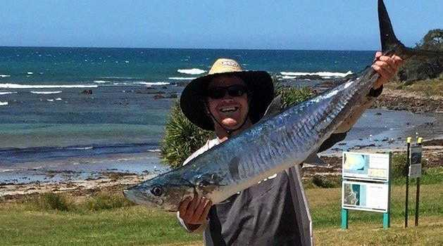 LUCKY ONE: Billy Avery had a 4-5 metre steal his spanish mackerel. Fortunately his mate caught caught another to provide a feed.
