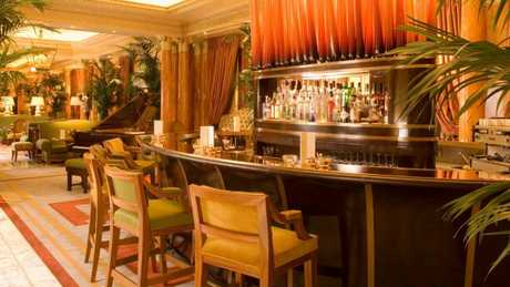 The cocktail bar at The Dorchester hotel, in London, England.