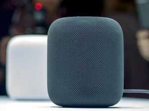 The new Apple HomePod smart speaker will go on sale on February 9. Picture: AFP/Josh Edelson