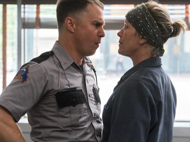 Sam Rockwell played a racist policeman opposite Frances McDormand in Three Billboards Outside Ebbing, Missouri. Picture: Merrick Morton/Fox Searchlight via AP