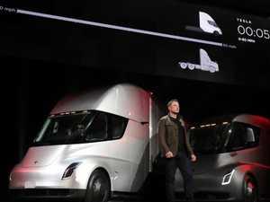 Elon Musk unveiling the company's forthcoming Tesla Semi.