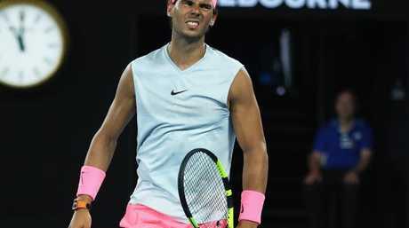 Nadal went down injured.
