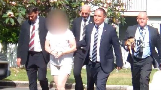 Mavis Crabtree is arrested yesterday.