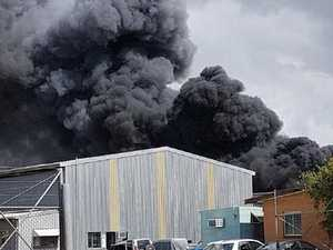Factory fire causes huge plumes of smoke