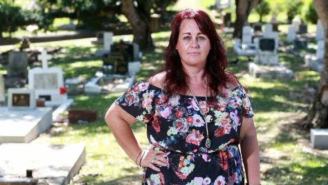 Ghost tour operator Katie Harvey at Toowong Cemetery. She is warning people against dodgy tour guides operating without permits or insurance. AAP/Sarah Marshall