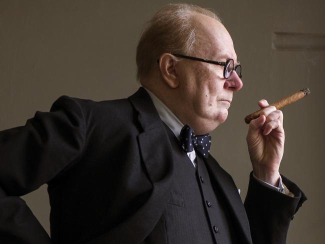 An unrecognisable Gary Oldman as Winston Churchill in Darkest Hour. Picture: Jack English/Focus Features via AP