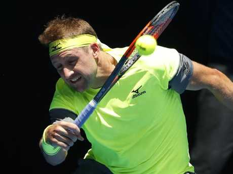 Tennys Sandgren charged into the second week of the Open.