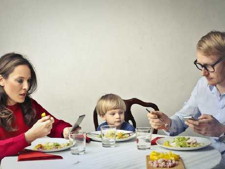 Almost one third of people admit they use their phone at every meal. Picture: iStock