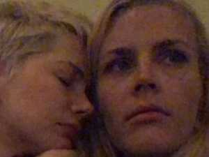 Michelle Williams and best friend Busy Phillips console each other. Source:Instagram