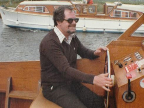 Norman Sanders final wish was to captain his own boat.