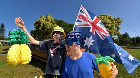 Getting into the spirit of Australia Day.