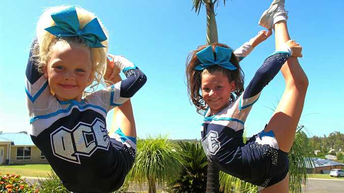 CHEER ELITE: Fernvale sisters Britney and Taylah Arthurson will head to the USA next month to compete at the largest cheerleading competition in the world.