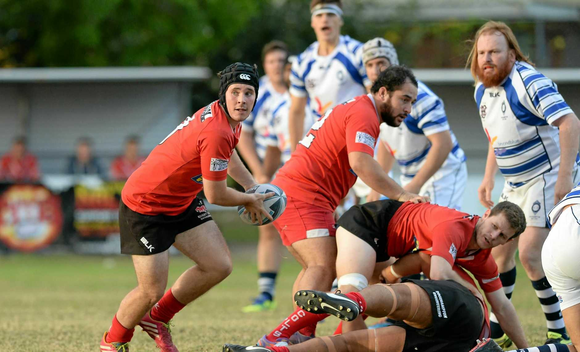 Colts player R Webley in the Rugby Union game between Brothers and Colts at Victoria Park.   Photo: Chris Ison / The Morning Bulletin