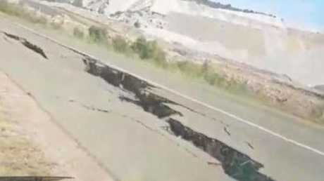 The huge crack is believed to be a result of a mine black at Moura Mine.