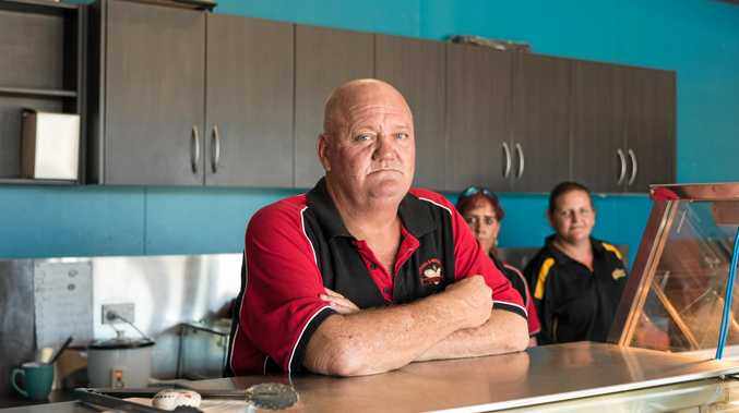 NOT HAPPY: Andrew Fyfe of A&B Bakery is losing business every day as Gibihi Rd remains closed with no word on when it will reopen.