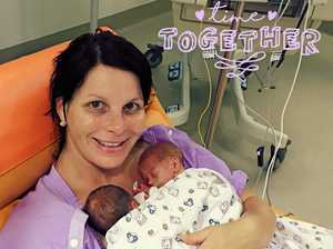 Super mum gives birth to son in January, twins in December