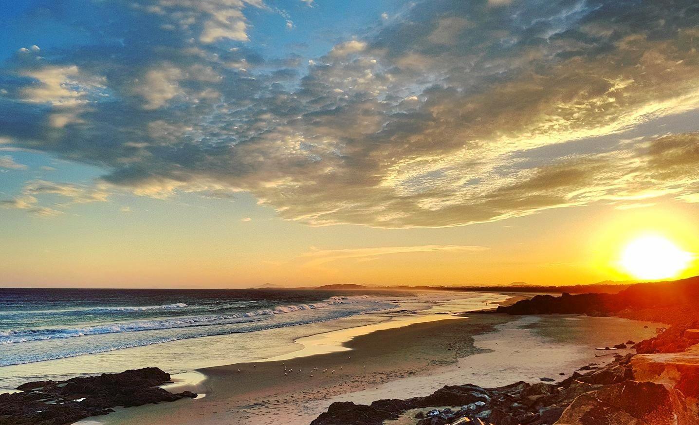 Gallows beach sunset.