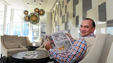 Grant Cassidy in the reception of the Empire building, Rockhampton.  Photo Sharyn O'Neill / Morning Bulletin