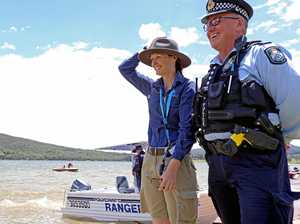 Police on water as dams get popular