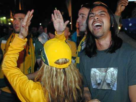Fans show their disappointment after Australia's bid to hold the 2022 FIFA World Cup was rejected.