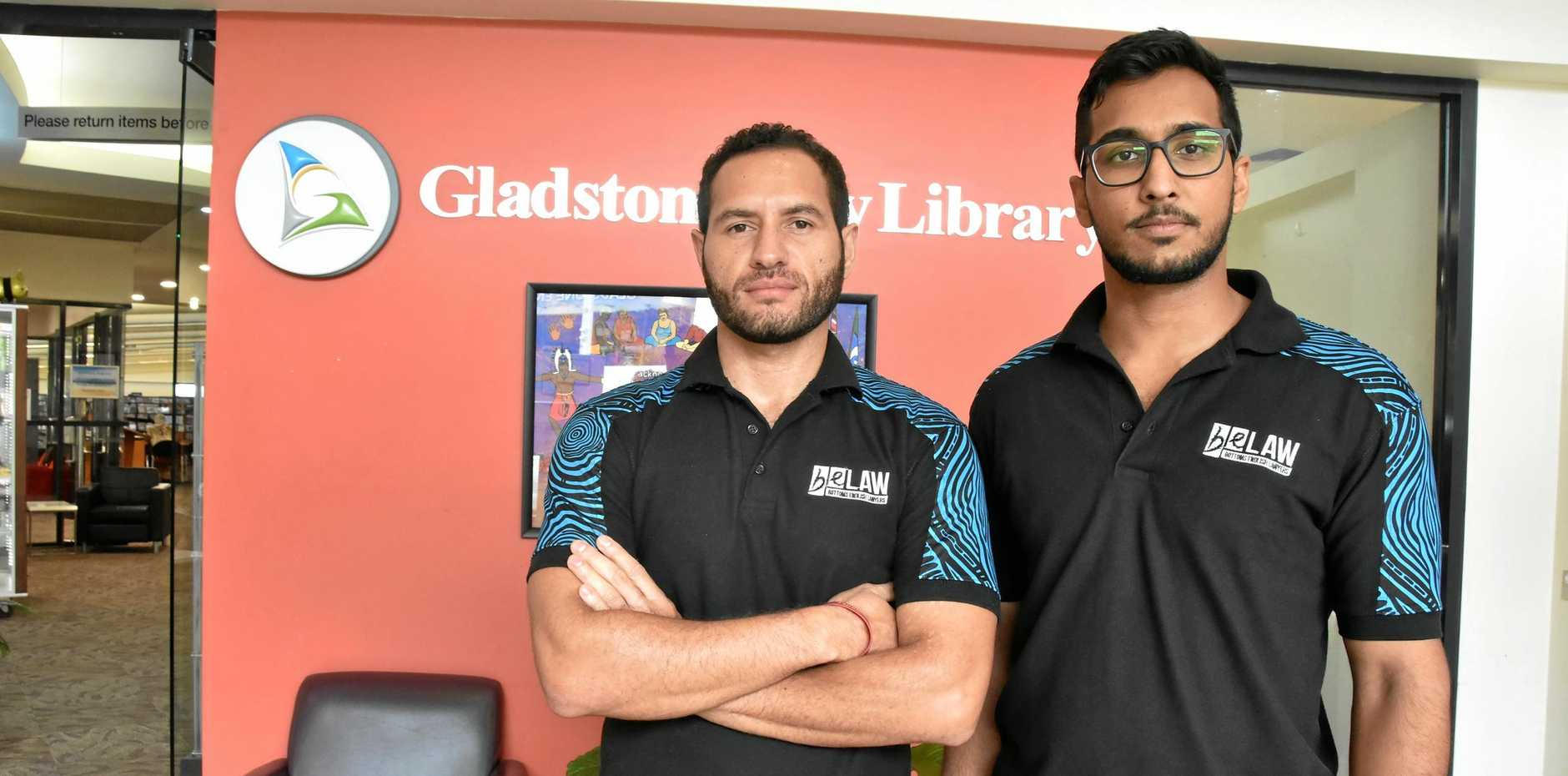 Bottoms English Lawyers class action administrator Jonathon Kawa and solicitor Praneel Bhela met with members of the stolen wages class action in Gladstone.