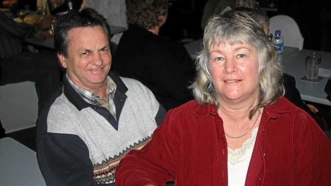 Bill and Karen Zahner at the Gympie Pines Golf Club in 2013.