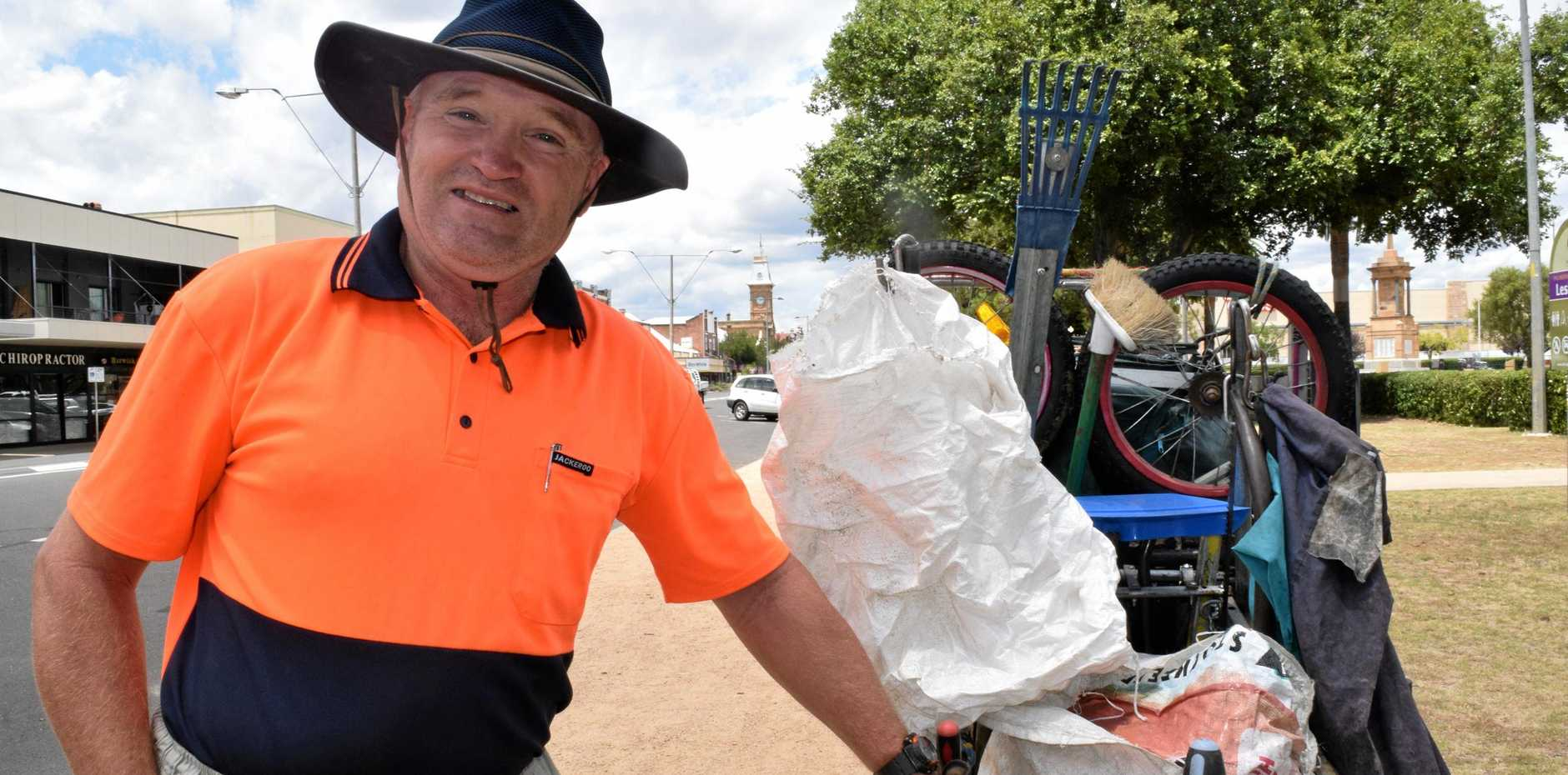 WELL DONE: The Rubbish Rambler, Leonard Monaghan will be honoured at today's Australia Day Award Ceremony.