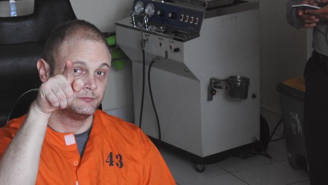 Australian accountant, Isaac Roberts, arrested in Bali. Picture: Lukman S Bintoro / News Corp Australia
