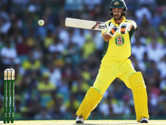 Maximum volume: Glenn Maxwell has all the necessary tricks to score rapidly in the middle overs. Picture: Getty Images