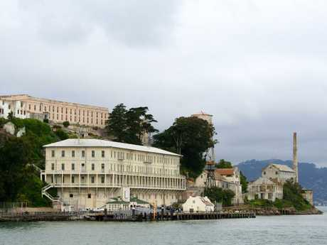 Alcatraz island from the boat. Picture: Jenny Stevens