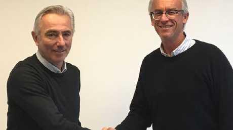 Bert Van Marwijk and David Gallop Picture: Twitter