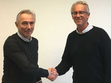 Bert Van Marwijk and David Gallop Picture: Twitter