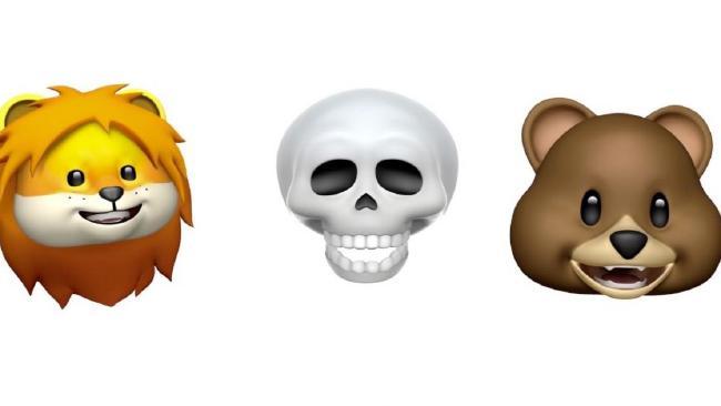 Apple's new Animoji range has these three guys and a dragon.