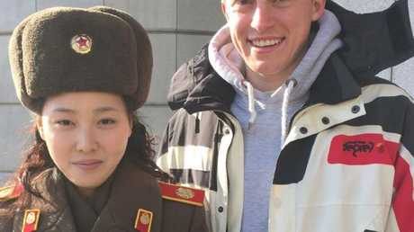 British tourist Sam Chamberlain risked everything by filming a secret video in North Korea. Picture: The Sun