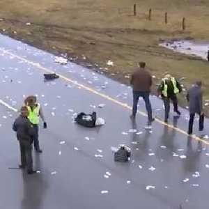 Crash sends money raining over highway | Northern Star