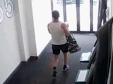 Stimpson is later seen leaving the gym. Picture: Kent Police/PA