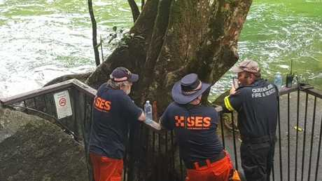 Tourist dies after being swept away in floodwaters at Josephine Falls. PHOTO: Elisabeth Champion