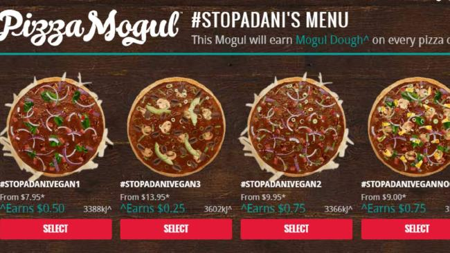 A Domino's spokesman said the Stop Adani pizza website would be shut down.