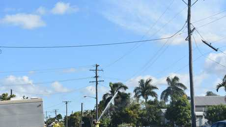 AUSTRALIA DAY: A car crash into a power pole at Water St where the occupants left the scene before police arrived.