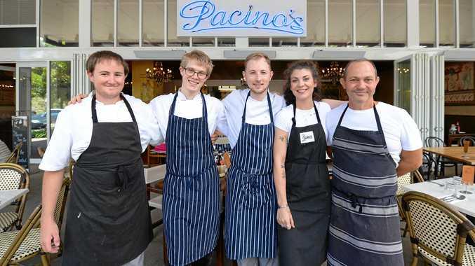 SLICE OF ITALY: Jayden Seierup, Brodie Saxon, Ayden Hamilton, Gabriella McHugh and Guy Pilcher from Pacino's.