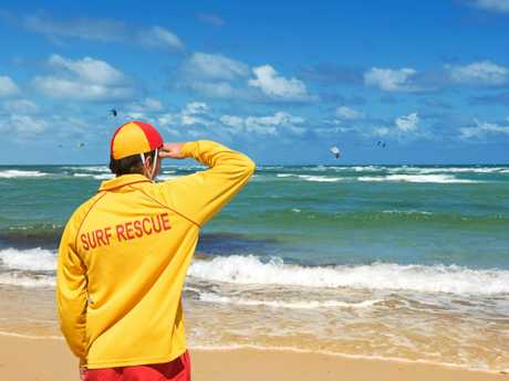 SIGN OF A SAVIOUR: Known around the world as an emblem of the dedicated lifesavers who keep our beaches safe.