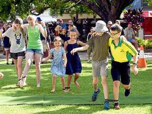 Aussie fun and games on Town Hall Green