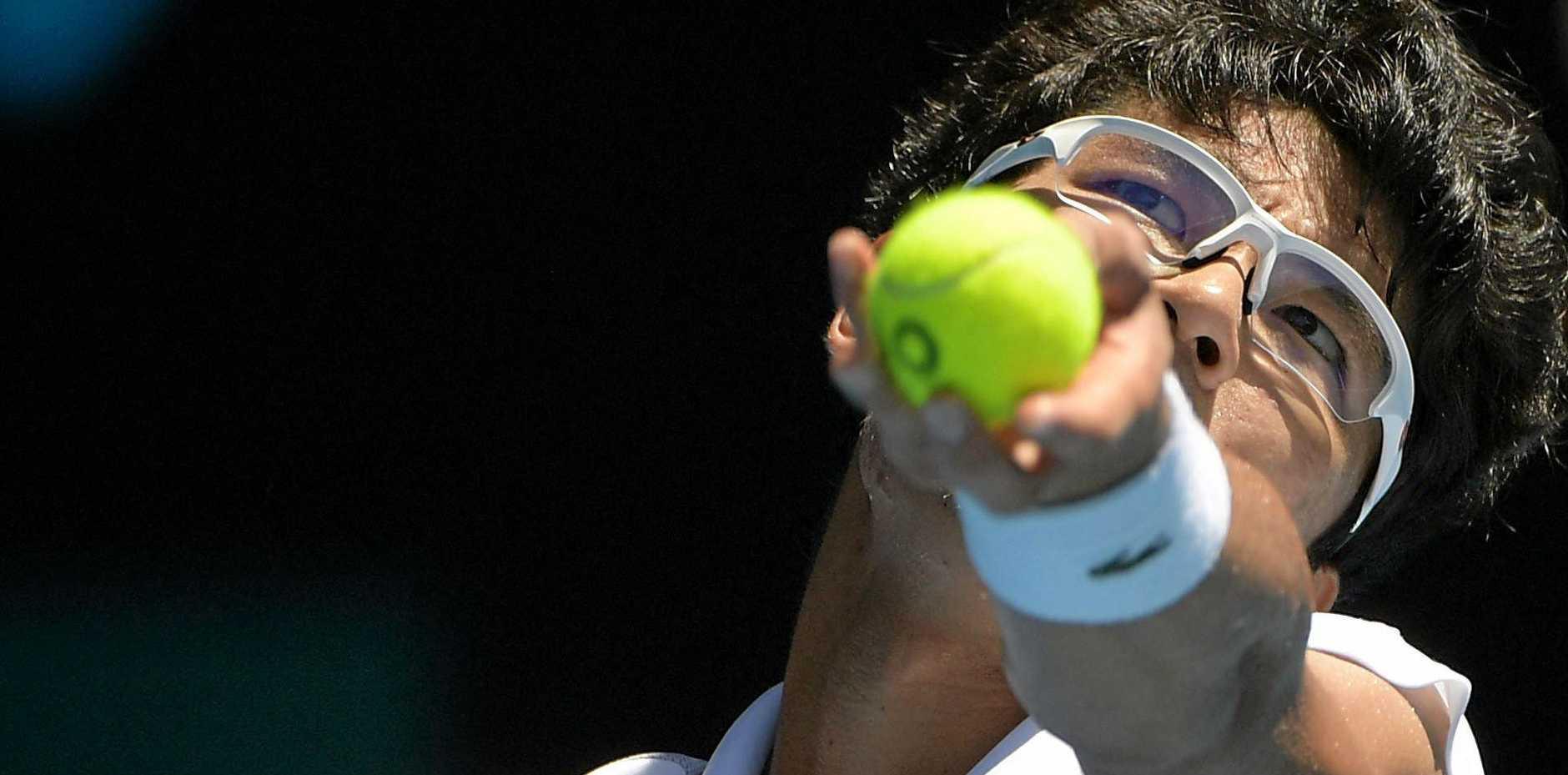 Hyeon Chung will battle Roger Federer for a spot in the Australian Open final.
