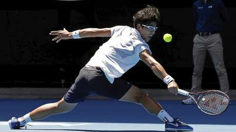 South Korea's Chung Hyeon has great court coverage.