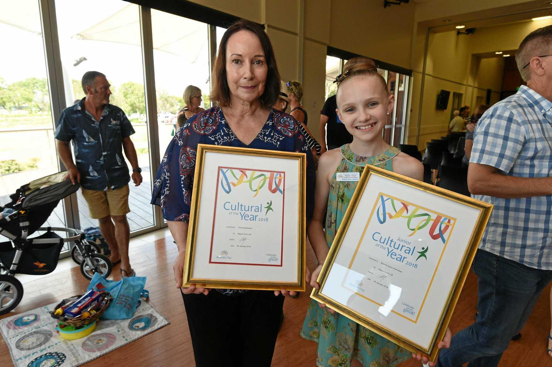 Australia Day awards ceremony - (L) Pamela Marshall and Bonnie Quinn-Hennessy.