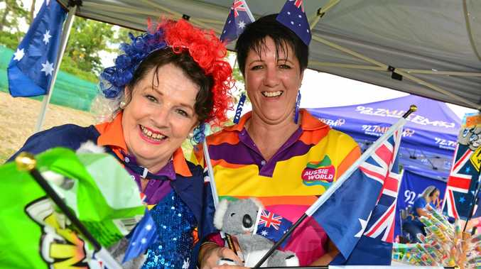 AUSTRALIA DAY: Heather Parslow and Liz Green at Aussie World for all the Aussie day action.