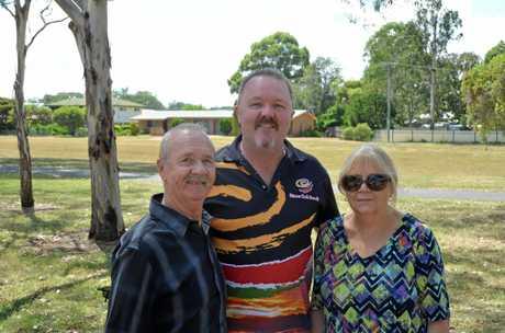 Derrick, Jason and Jackie Ford at Kingaroy Australia Day, 2018.