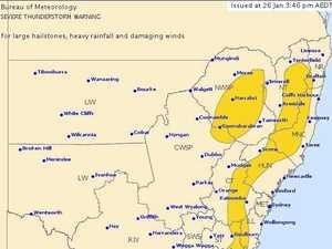 BoM: Large hail, heavy rain and damaging winds forecast