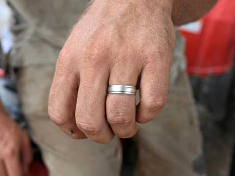 Russell McMillan wearing his unique two-toned ring.