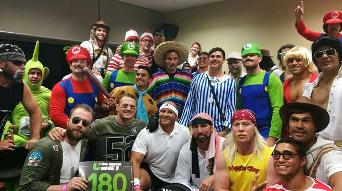 The North Queensland Cowboys get into the spirit as the darts competition rolls into town.